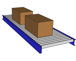 small gravity roller conveyor